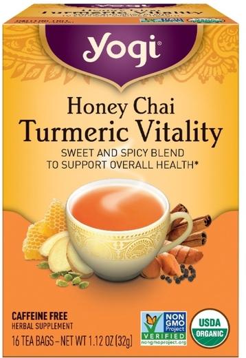 Honey Chai Turmeric Vitality Tea (Organic), 16 Tea Bags