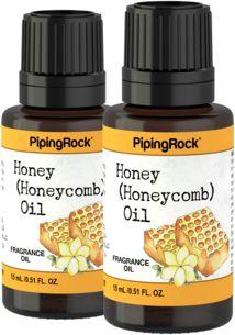 Óleo perfumado de mel (favos de mel), 1/2 fl oz (15 mL) Frasco conta-gotas, 2  Frascos conta-gotas