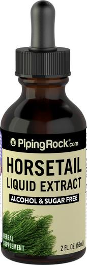 Extrato líquido de cavalinha sem álcool, 2 fl oz (59 mL) Frasco conta-gotas