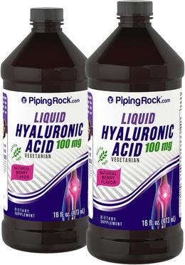 Hyaluronic Acid Liquid 100mg 2 Bottles x 16 fl oz