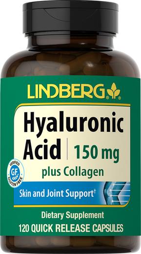Hyaluronic Acid Plus Collagen 150 mg, 120 Capsules