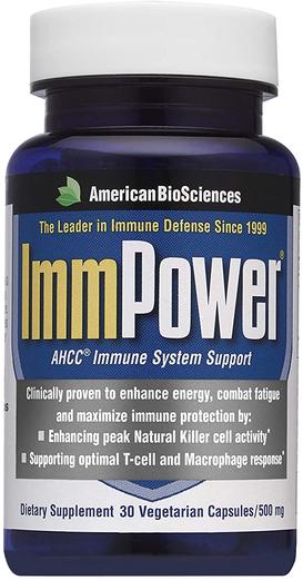 ImmPower (AHCC dla wsparcia układu odpornościowego) 30 Kapsułki wegetariańskie