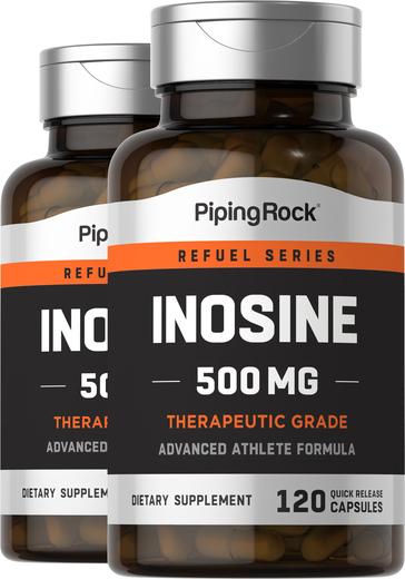 Inosine 500 mg Supplement 120 Capsules