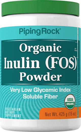 Probiotyk FOS z inuliną w proszku (Organiczne) 15 oz (425 g) Butelka