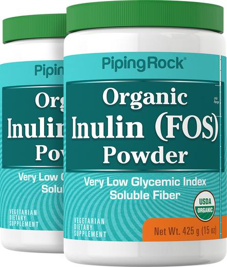 Probiotyk FOS z inuliną w proszku (Organiczne) 15 oz (425 g) Butelki