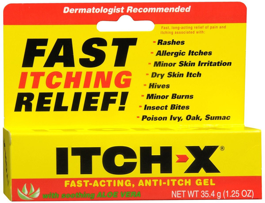 Gel Anti Kegatalan Itch-x  1.25 oz (35 g) Tiub