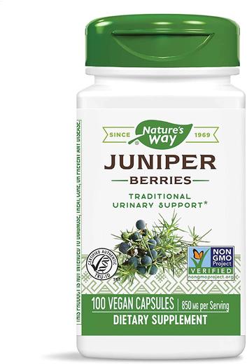 Juniper Berries 850 mg (per serving), 100 Vegetarian Capsules