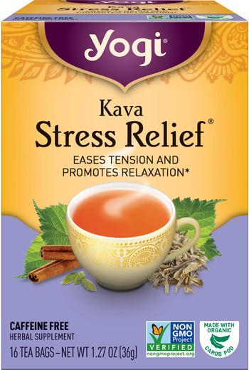 Chá para alívio da tensão Kava, 16 Saquetas de chá
