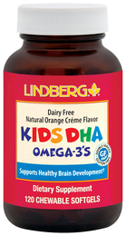 Tabletki do żucia dla dzieci z kwasami DHA omega-3 (naturalny smak pomarańczy i śmietankowy) 120 Tabletki żelowe