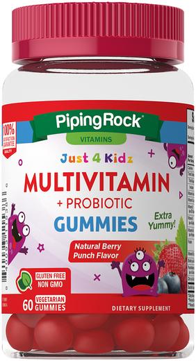 Kids Multivitamin + Probiotic Gummies, 51 Gummies