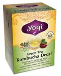 Saquetas de chá verde descafeinado Kombucha 16 Saquetas de chá