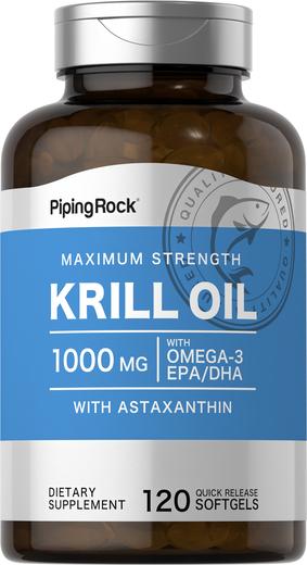 Red Krill Oil 1000 mg 120 Softgels