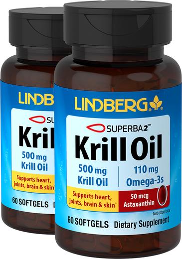Krill Oil 500 mg, 60 Sg x 2 bottles