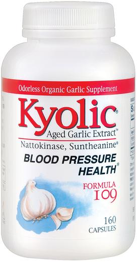 Kyolic Aged Garlic (Blood Pressure Health Formula 109), 160 C