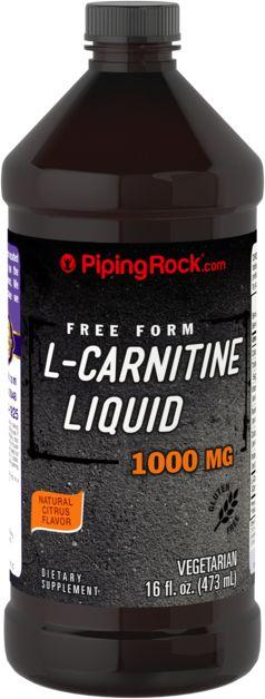 L-carnitina líquida - Cítrica, 1000 mg, 16 fl oz (473 mL) Frasco