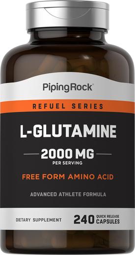 L-glutamina, 2000 mg (na porcję) 240 Kapsułki o szybkim uwalnianiu