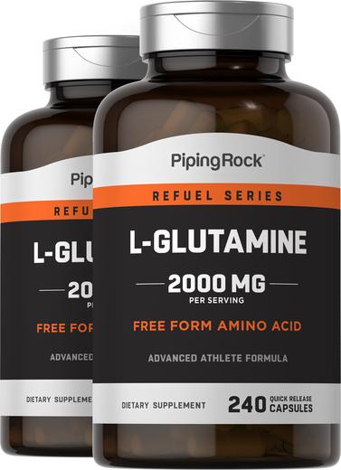 L-Glutamine 500 mg 2 Bottles x 240 Capsules
