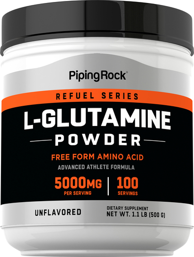 L-glutamina en polvo 1.1 lb (500 g) Botella/Frasco