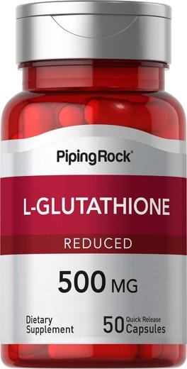 L-Glutathione (Reduced) 500 mg 50 Capsules