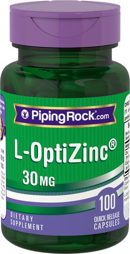 L-OptiZinc 30mg 100 Capsules