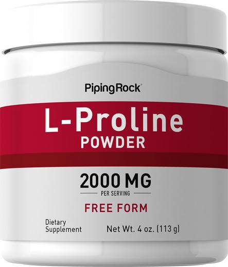 L-プロライン パウダー 4 oz (113 g) ボトル