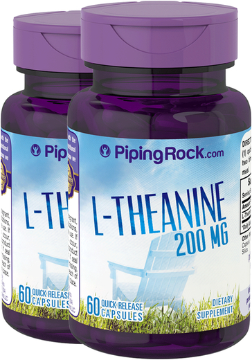 L-Theanine 200 mg 2 Bottles x 60 Capsules