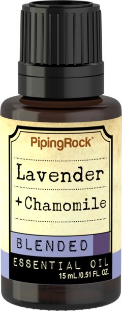 Lavender-Chamomile Essential Oil 1/2 oz (15 mL) Dropper Bottle