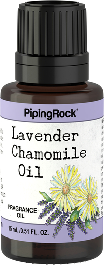 Óleo perfumado de lavanda e camomila, 1/2 fl oz (15 mL) Frasco conta-gotas