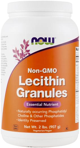 Grânulos de Lecitina sem OGM 2 lbs (907 g) Frasco