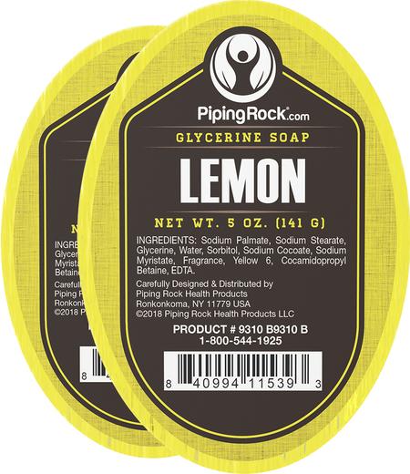 Sabonete de glicerina e limão, 5 oz (142 g) Barra(s), 2  Barras