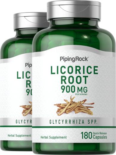 Licorice Root 450 mg  2 Bottles x 180 Capsules