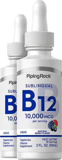 Liquid B12 10,000 mcg 2 fl oz (59 ml) Dropper Bottle
