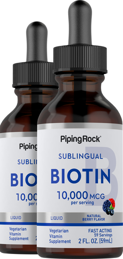 Biotin 10,000 mcg 2 fl oz (59 mL) Botol