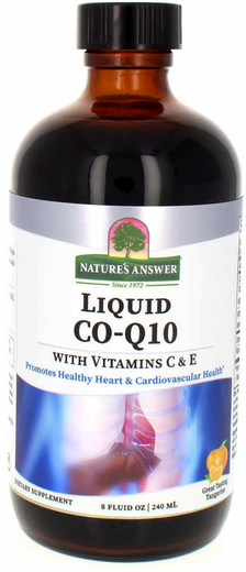 Liquid Co-Q10 with Vitamins C & E (Natural Tangerine) 8 fl oz