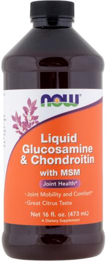 Glucosamina líquida/Condroitina/MSM, 16 fl oz (473 mL) Frasco