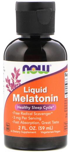 Melatonina líquida 3 mg 2 fl oz (59 mL) Frasco con dosificador