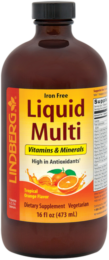 Płyn Multi bez żelaza (tropikalny pomarańczowy) 16 fl oz (473 mL) Butelka
