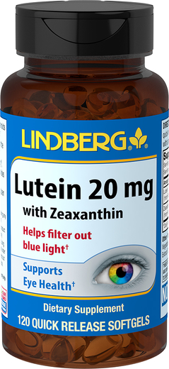 Lutein 20 mg with Zeaxanthin, 120 Softgels