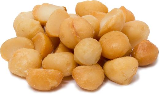 Macadamianøtter - ristede og saltede 1 lb (454 g) Pose