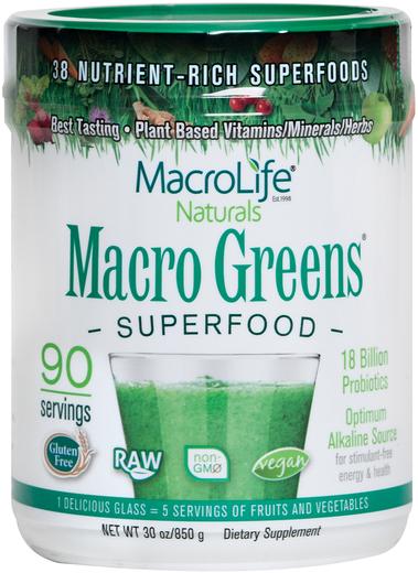 Superżywność w proszku Macro Greens 30 oz (850 g) Butelka