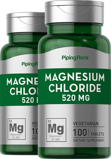 Cloreto de magnésio , 520 mg, 100 Comprimidos, 2  Frascos