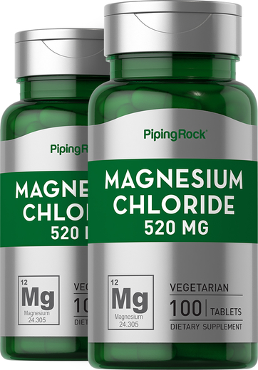 Magnesium Chloride 520mg 2 Bottles x 100 Tablets