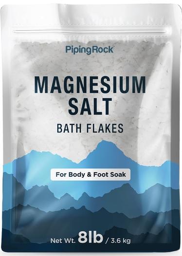 Magnesium Salt Bath Flakes (Body & Foot Soak), 8 lbs