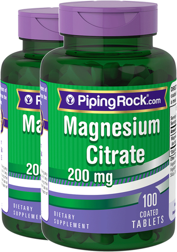 Magnesium Citrate 200 mg 2 x 100 Pills