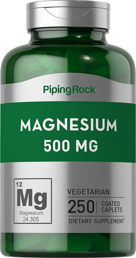 Magnesium Oxide 500 mg 250 Supplement Capsules