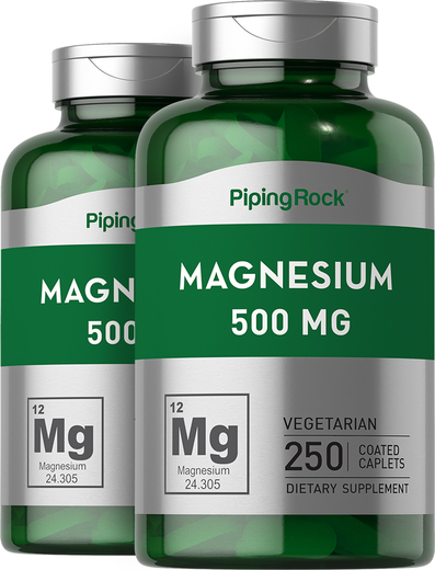 Magnesium Oxide 500 mg 2 x 250 Supplement Capsules