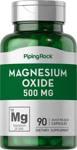 Magnesium Oxide 500 mg 90 Supplement Capsules