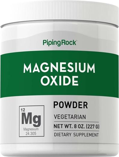 Pó de óxido de magnésio, 8 oz (227 g) Frasco