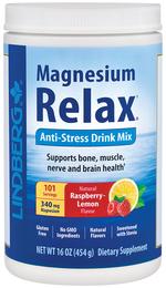 Magnez w proszku na rozluźnienie (naturalny, malina, cytryna) 16 oz (454 g) Butelka