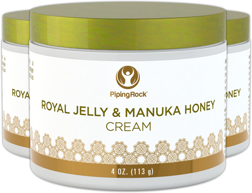 Royal Jelly og Manuka-honningcreme 4 oz (113 g) Glas